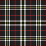 Plaid nero Fotografie Stock