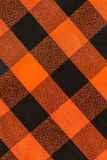 Plaid orange and black textured background pattern royalty free stock image