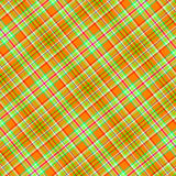 Plaid orange et vert Photographie stock libre de droits