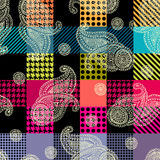 Plaid and paisley pattern. Stock Image