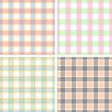Plaid pastel. Seamless texture plaid pastel colors stock illustration