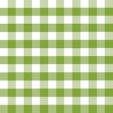 Plaid pattern. Green and white vector illustration