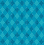 Plaid pattern in blue tones Stock Photography