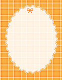 Plaid pattern border frame. Plaid pattern border / frame orange Royalty Free Stock Images
