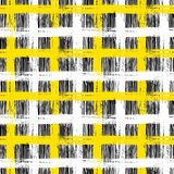 Plaid pattern with brushstrokes and stripes. Vector seamless plaid pattern with bold brushstrokes and stripes in bright multiple colors can be used for print Stock Photo