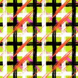 Plaid pattern with brushstrokes and stripes Stock Photography