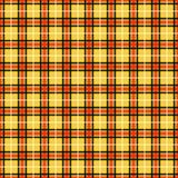 Black, Red, and Yellow Plaid Seamless Pattern stock illustration