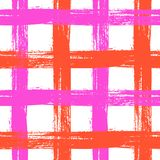 Plaid pattern with crossing wide stripes in bright Royalty Free Stock Photography