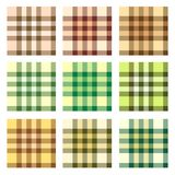 Plaid pattern design vector set Royalty Free Stock Image