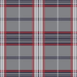 Plaid pattern. Grey with red line seamless pattern Vector Illustration