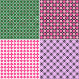 Plaid pattern set. A set of four colored seamless tartan patterns. Vector illustration Stock Photo