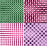 Plaid pattern set Stock Photo