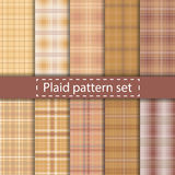 Plaid pattern set seamless background Royalty Free Stock Images