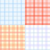 Plaid pattern. Vector plaid pattern set, seamless background Royalty Free Stock Photography
