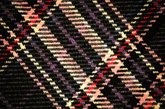 Plaid Pattern. On Wool fabric up close Stock Image