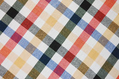 Plaid patterned design. Colorful plaid patterned textile design Royalty Free Stock Photography