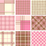 Plaid patterns Royalty Free Stock Photography