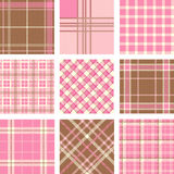 Plaid patterns Stock Image