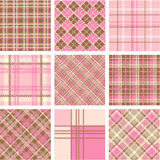 Plaid patterns Royalty Free Stock Image