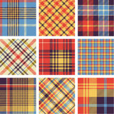 Plaid patterns Stock Images