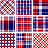 Plaid patterns Stock Photography