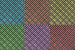 Plaid patterns Stock Photos