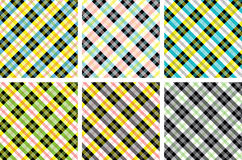 Plaid patterns collection Royalty Free Stock Photos