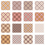 Plaid Patterns Collection Royalty Free Stock Images