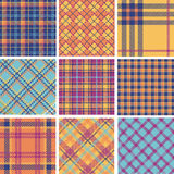 Plaid patterns color set Royalty Free Stock Image