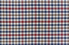 Plaid Patterns in Red, Dark Navy Blue, and White. For background Royalty Free Stock Photography
