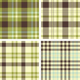 Plaid patterns Royalty Free Stock Images