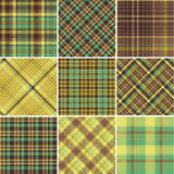 Plaid patterns Stock Photo