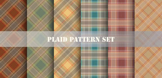 Plaid Patterns. Vector set. Royalty Free Stock Photography