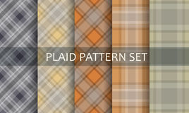 Plaid Patterns. Vector set. Royalty Free Stock Photos