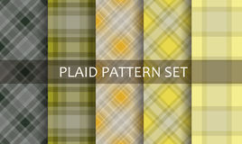 Plaid Patterns. Vector set. Stock Photo