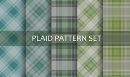 Plaid Patterns. Vector set. Stock Photography