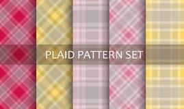 Plaid Patterns. Vector set. Stock Photos