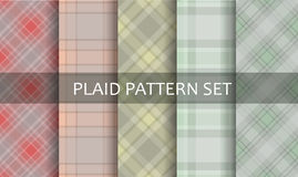 Plaid Patterns. Vector set. Royalty Free Stock Image