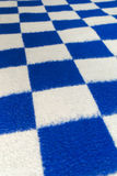 Plaid. Perspective view of the blue and white plaid Stock Photo