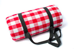 Picnic blanket isolated on white background Royalty Free Stock Photos