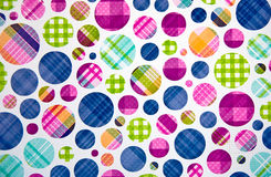 Plaid polka dots Stock Photo