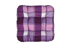 Plaid Purple Cushion Royalty Free Stock Photo