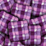 Plaid Purple Cushions Royalty Free Stock Images