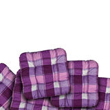 Plaid Purple Cushions Royalty Free Stock Photos