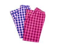 Plaid Pyjamas Pants #2 Stock Photo