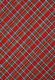 Plaid red fabric background Royalty Free Stock Photography
