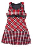 Plaid red feminine gown Royalty Free Stock Photography