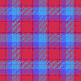 Plaid retro red blue seamless pattern - for hipster shirt Stock Images