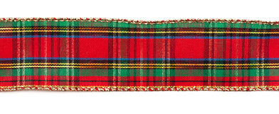 Plaid ribbon Royalty Free Stock Photography