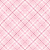 Plaid rosa-chiaro Fotografie Stock Libere da Diritti
